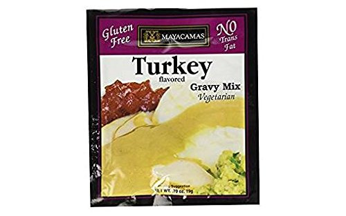 Mayacamas Gluten Free & Vegetarian Turkey Gravy (Pack of 4) .70 oz Packets (Turkey Gravy Packets)