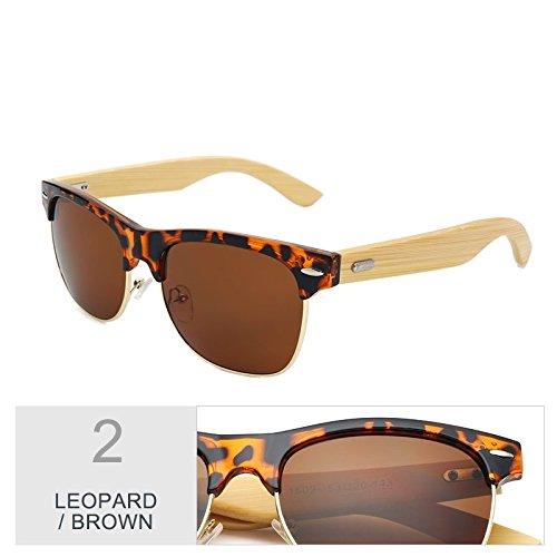 De Gafas Unisex Clásico TIANLIANG04 Negro De Brown Gafas Color Leopard Sol Oro Mirroring 45qwwWafd