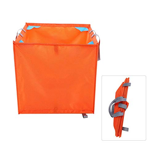 Bnineteenteam Folding Rock Climbing Tree Basket Foldable Nylon Rock Climbing Throw Line Rope Storage Cube Box Container(Orange)