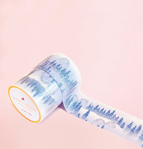 Falling Snow In Christmas Day Washi Tape for Planning • Scrapbooking • Arts Crafts • Office • Party Supplies • Gift Wrapping • Colorful Decorative • Masking Tapes • DIY from Mery Keem