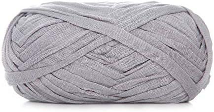 Xiuinserty Hilo de tejer plano de lana sintética, 100 g, lana de ganchillo de algodón tejida a mano para cesta de manta V: Amazon.es: Hogar