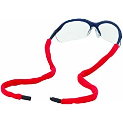 Chums Safety 13002 Cotton Eyewear Retainer with Reconnecting Single Breakaway, Red (Pack of 6)