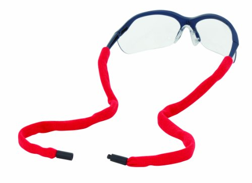 Chums Safety 13002 Cotton Eyewear Retainer with Reconnecting Single Breakaway, Red (Pack of 6) by Chums