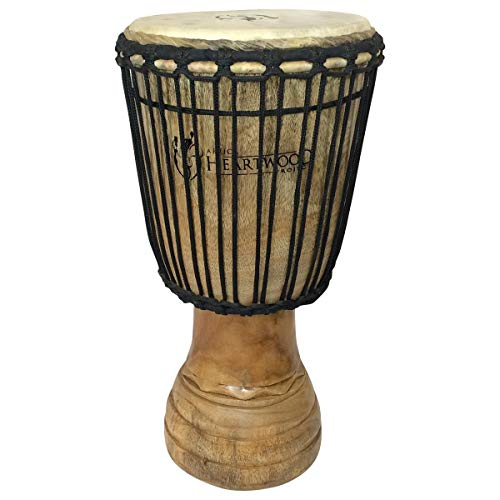 Hand-carved Classical Heartwood Djembe Drum from Africa - (African Djembe Drum)
