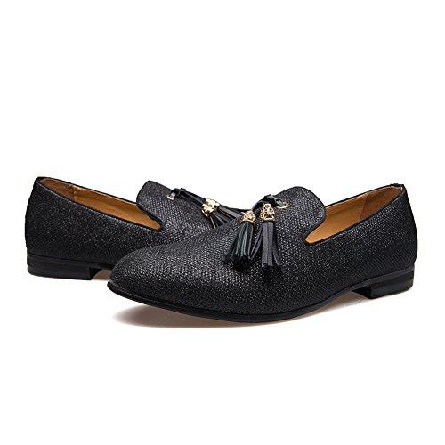 Men S Vintage Velvet Metal Cross Loafers Shoes Slip On