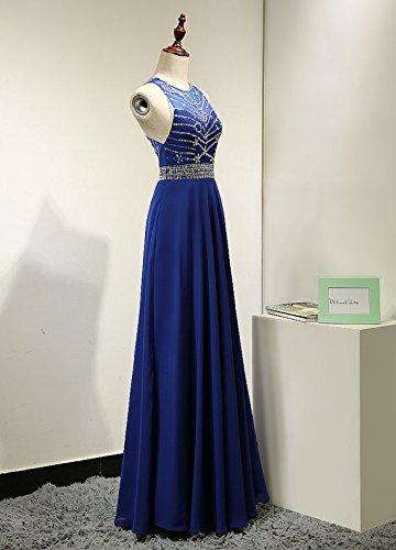 Dresses Burgundy Fanciest Kleid Evening Formal Lang Abendkleid Women's Beaded Halter wvpvqfa