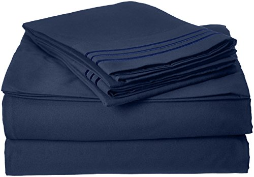 Elegant Comfort Bedding Collection 3-Piece Bed Sheet Set 1500 Thread Count Egyptian Quality Wrinkle Free...