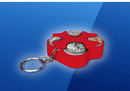 Key Chain Coin Holder, Coin Organizer, Us Coin Holder Red