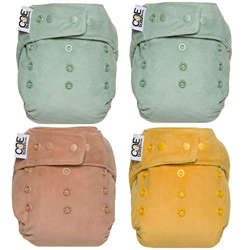 GroVia Buttah O.N.E. Reusable Baby Cloth Diaper - 4 Pack - Color Mix 3