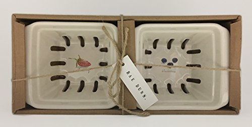 Strawberry & Blueberries Ceramic Icon Berry Baskets ()