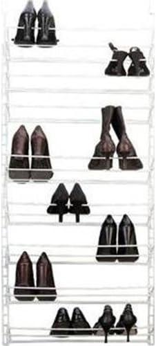 Amazon Com Panacea Grayline 412184 Adjustable 12 Pair Shoe Rack White Home Kitchen
