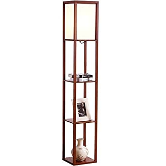 Brightech Maxwell Shelf Floor Lamp Modern Mood Lighting For Your Living Room And Bedroom