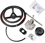 ExGizmo 14' Outboard Boat Rotary Steering System Kit,14 Feet Marine with 13&qu