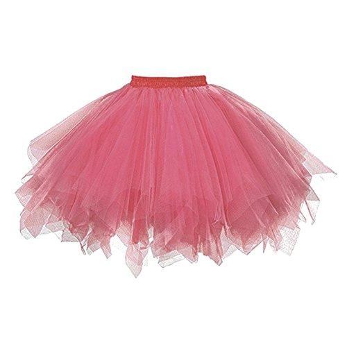 lunghezza abito caramelle ballo bambino per caldo gonna costumi Wongfon multicolore da rosa bambini Gonne caramelle Mezza Ragazza colore Tutu elastico supporto gonna da sposa vIfqnnB4Z