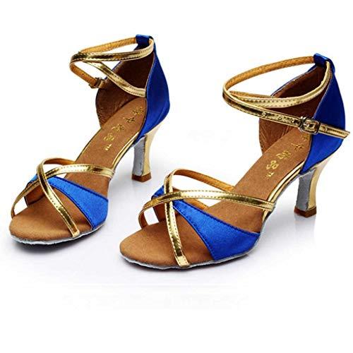 scarpa Punta A Blu Latino Con Vovotrade Aperta Scarpe Tacco Per Ragazza Pantofole Medio Da Alto Ballo K1cTJ3Fl