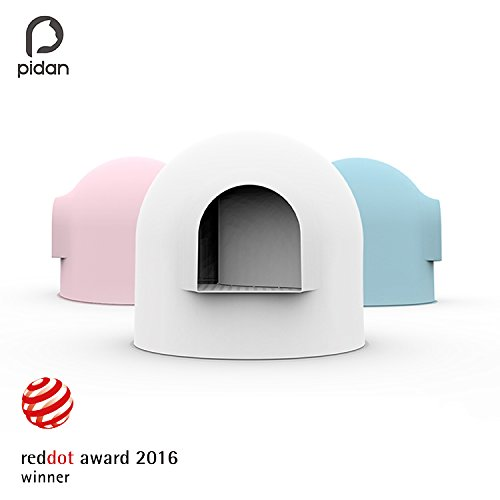Pidan Studio Snow House Igloo Cat Litter Box, Red Dot Design Award Winner, White For Sale