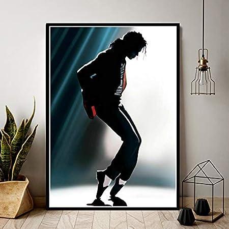 supmsds Kein Rahmen /Ölgem/älde K/önig Musiker Ber/ühmter S/änger Stern Poster Druck Wandkunst Leinwand Bild Living Home Room Decor