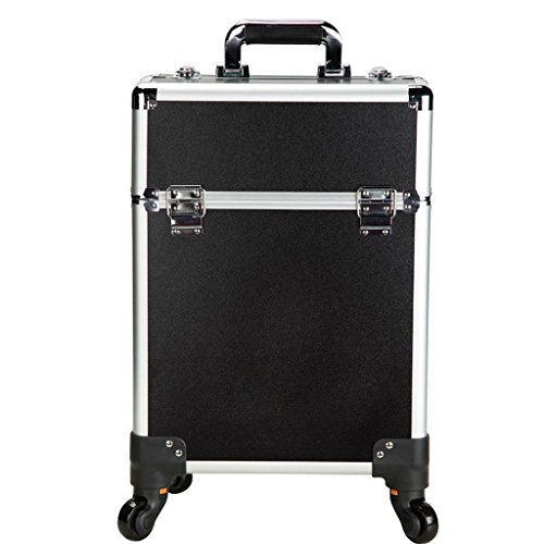 MS Storage Trolley Makeup Toolbox - Trolley Case with Makeup Makeup Portable Light Beauty Salon Large Capacity Universal Wheel Storage Box @ (Size : 342346cm)