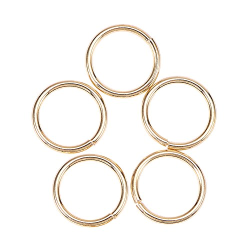 NBEADS 10PCS Golden 18K Sterling Silver Jump Rings, Gold Plated Close but Unsoldered Jump Rings for DIY Jewelry Making and Craft -