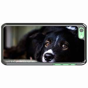 iPhone 5C Black Hardshell Case muzzle dog eyes sad Desin Images Protector Back Cover