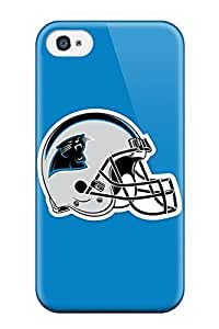 Durable Case For The Iphone 4/4s- Eco-friendly Retail Packaging(carolina Panthers Helmet)