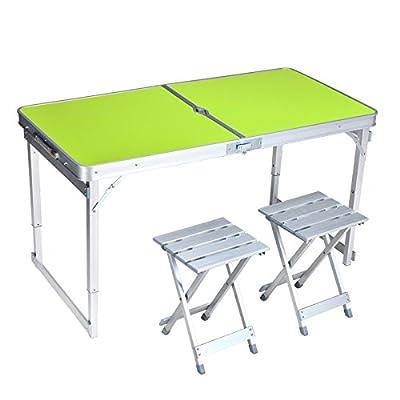 Xing Lin Table Pliable Une Table Pliante Table Pliante Et Président De La Table En Aluminium Portable Blocage Table Pour Renforcer La Table De Pique-Nique Table Promotion 120*60*60Cm, De Mise À Niveau Et Stable