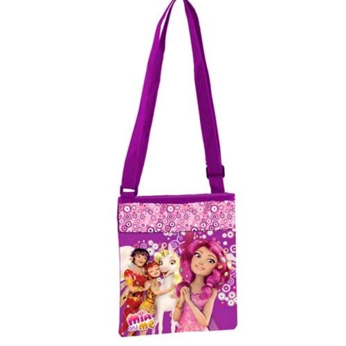 Tasche Gehstock Disney quer Mia and Me violett cm. 20x 18x 1