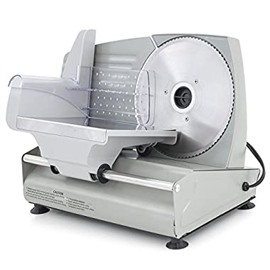 ARKSEN© Electric Commercial Deli Meat Slicer, Stainless Steel, 7.5-inch, 180-Watt