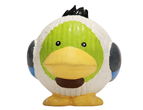 HuggleHounds Extremely Durable and Squeaky Ruff-Tex Duck Knottie Chew Toy, Super Size