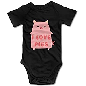 U are Friends Love Pigs Newborn Girls Boy'S Kids Baby Romper Short Sleeve Infant Toddler Jumpsuit