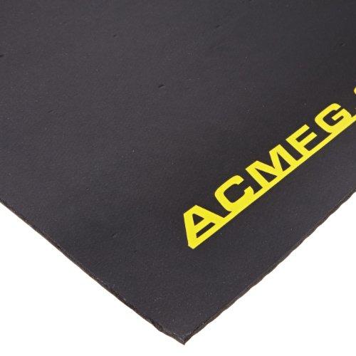 "Advanced Custom Manufacturing 234-125-2X3 FOD Shield Heavy-Duty Rubberized Work Mat, 3' Length x 2' Width x 1/8"" Thick, Black"