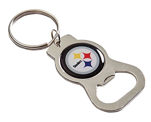 (Team Sports America C307806 Pittsburgh Steelers Bottle Opener, Silver)