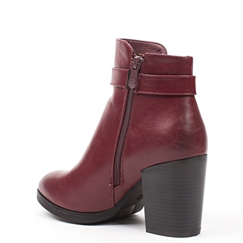 Ideal Shoes, Damen Stiefel & Stiefeletten , Rot - rot - Größe: Fr 41