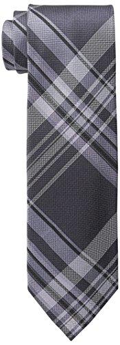 (Calvin Klein Men's University Plaid Tie, Lilac, One Size)