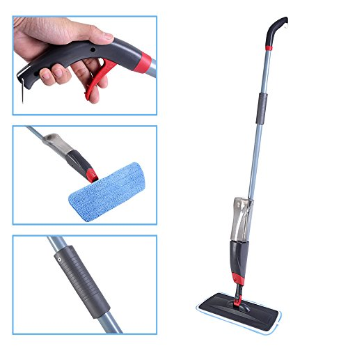 LTL Shop Spray Mop Cleaner With Replaceable Micorfiber Cloth And Liquid Bottle