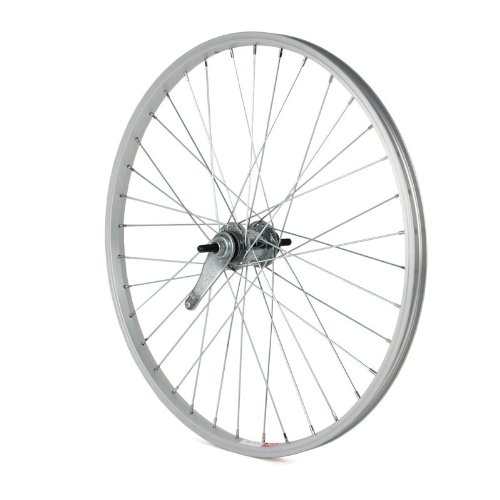 Sta Tru Silver Silver Alloy 6 7 Speed Freewheel Hub Rear Wheel (24X1.5 Inch)