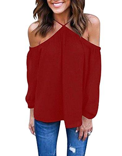 Red Off Shoulder - 7