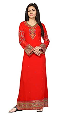 TrendyFashionMall Women's Printed Kaftans Maxi Dress Multiple Colors & Designs