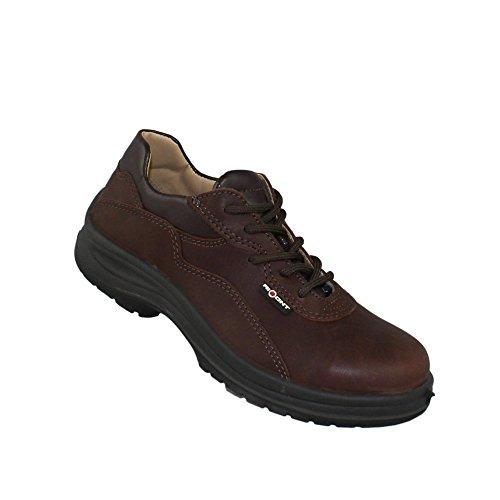 AIMONT - Calzado de protección de Piel para hombre marrón
