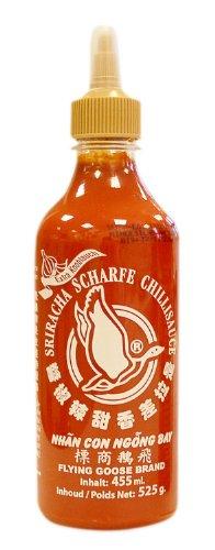 Flying Goose Chilisauce, Sriracha, Knoblauch, 2er Pack (2 x 455 ml Packung)