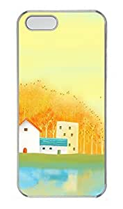 Case For Htc One M9 Cover Cute Yellow House Background PC Custom Case For Htc One M9 Cover Cover Transparent