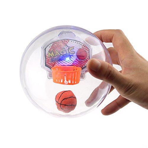 Tipmant Kids Mini Handheld Palm Basketball Toys Play Balls Game with Shooting Sound, Lights Baby Gift