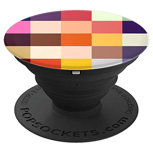 Minimal Abstract Colorful Pixel - Patchwork Style Love - PopSockets Grip and Stand for Phones and ()