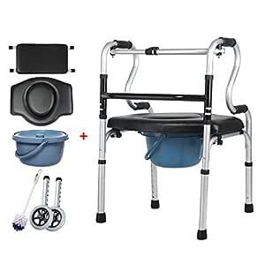 LHNLY-Andadores Estándares Silla portátil de Aluminio para Ducha ...