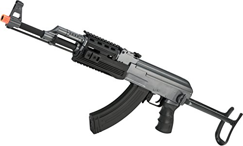 Evike - Full Size AK47-S RIS Airsoft AEG Rifle w/ Metal Gearbox & Metal Underfold Stock by CYMA (Ris Stock Folding)
