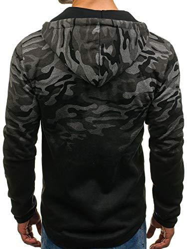 Gris À Fermeture Hoodie Camo 1a1 Sweatshirt Capuche Homme Foncé dd85 Éclair Avec Bolf wHvI5qw