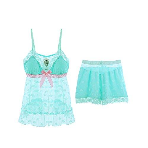 Yvonnelee - Pijama - para mujer 2(150-165cm)