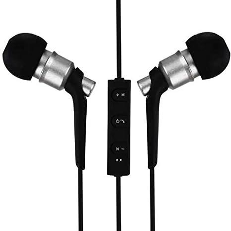 Auriculares inalámbricos Bluetooth 4.2, Mejores Auriculares Inalámbricos Deportes, HD Auriculares (PLATA)