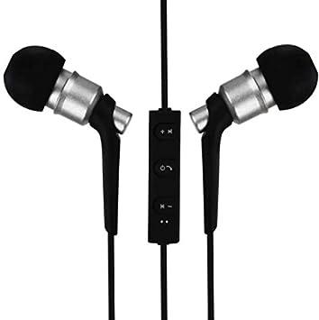 Auriculares inalámbricos Bluetooth 4.2, Mejores Auriculares Inalámbricos Deportes, HD Auriculares (PLATA): Amazon.es: Instrumentos musicales