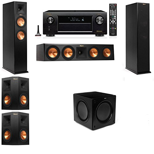 Klipsch RP-250F 5.1 Speaker Package with SW-311 Subwoofer and Denon AVR-X4100W